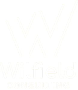Wilfield Consulting white logo